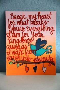 Custom Scripture or Quote Painting - 11X14 Canvas