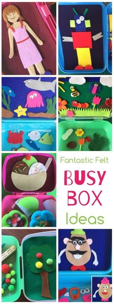 Fantastic Felt Busy Box Ideas, perfect for traveling, quiet time or any time you need to occupy your kids!