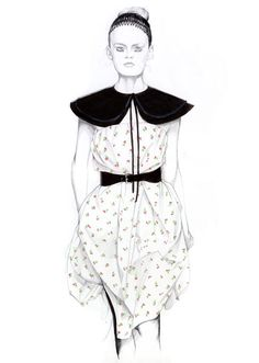 Fashion illustration - fashion drawing // Caroline Andrieu