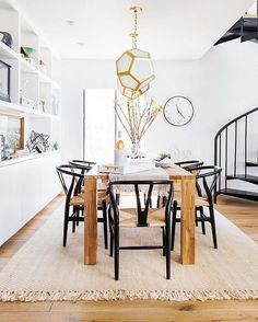 WEBSTA @ mydomaine - What's one way to update your dining space on a budget? By…