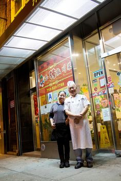 Cheng Ying Wu, left, and her husband, Gui Ping Huang, the owners of Little Pepper. Five years ago the restaurant moved from Flushing, Queens, northwest to College Point. (Photo: Michael Nagle for The New York Times)