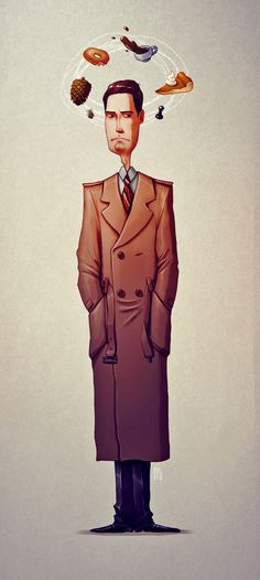 Twin Peaks tribute - Character design by Maria Tiurina, via Behance
