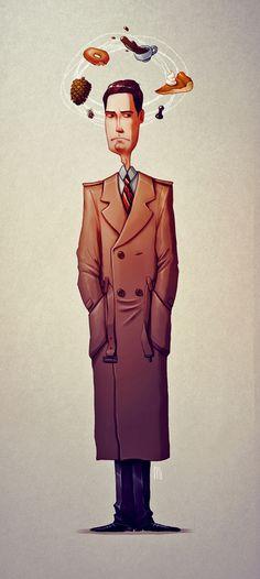 Twin Peaks tribute - Character design by Maria Tiurina, via Behance
