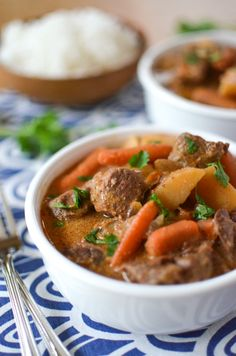 Slow Cooker Massaman Beef Curry | simplywhisked.com