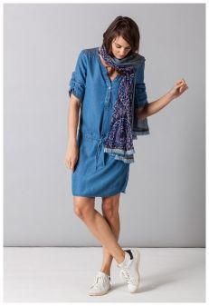 MISS CAPTAIN - ROBE TENCEL DENIM