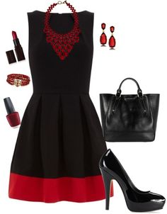 I have a cute little black dress that I could add a red band to the bottom of, how easy would that be! So classy!