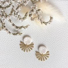I wanted to design some brighter earrings for summer... so, let me introduce my first set of white and gold earrings. Now available on my Etsy page (link in bio). Bohemian Accessories, Bohemian Jewelry, Jewelry Accessories, Etsy Jewelry, Cute Jewelry, Jewellery, Etsy Best Sellers, Hippie Bohemian, Gold Earrings