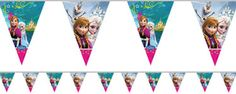 Frozen Anna And Elsa Plastic Party Bunting - Matching Items In My Shop Party Bunting, Anna Frozen, Elsa, I Shop, Plastic, Halloween, Cards, Palette, Shopping