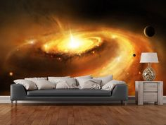 Spiral Galaxy Core wall mural room setting