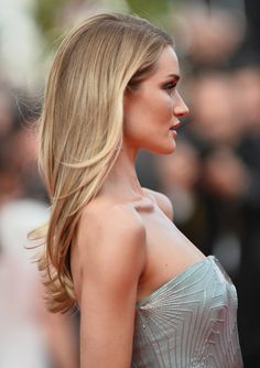 Beautiful hair color!  Rosie Huntington-Whiteley attends 'The Search' premiere during the 67th Annual Cannes Film Festival on May 21, 2014 in Cannes, France.