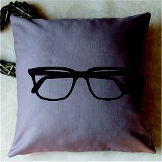Glasses Print Cushion