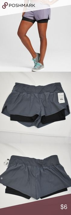 2-in-1 Running Shorts - NWT C9 Champion women's running shorts in military blue. very comfortable/breathable style and fit. Champion Shorts