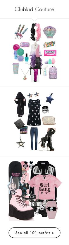 """""""Clubkid Couture"""" by harley-quinn13 ❤ liked on Polyvore featuring City Chic, Versus, Topshop, Betsey Johnson, In Your Dreams, Charlotte Russe, Suva Beauty, Forever 21, Lauren B. Beauty and SK-II"""