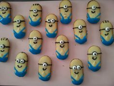 Sara, how about these if we do your bday treat for both Dorey & Prato's classes? minions made with milano cookies