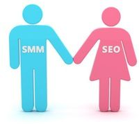 SMM & SEO holding hands