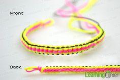 Make the closure for string friendship bracelet