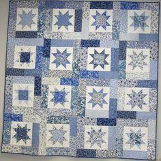 Pattern: Lucky Stars by Atkinson Designs Fabric: La Fete de Noel ... : lucky star quilt pattern - Adamdwight.com