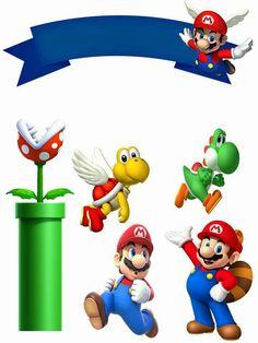 Mário Super Mario Bros, Super Mario Party, Super Mario Birthday, Mario Birthday Party, Twin Birthday Parties, Diy Birthday, Bolo Do Mario, Bolo Super Mario, Mario Cake