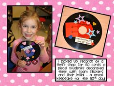 Decorate a 50s record cute idea
