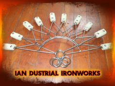 Rising Sun Fire Fans by IanDustrialIronworks on Etsy, $140.00