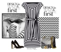 """""""Black and white"""" by veronica-maria-kratochwill ❤ liked on Polyvore featuring Karen Millen, Dsquared2, Gucci, Oscar de la Renta and Iosselliani"""