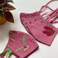 Easy Face Masks, Diy Face Mask, Hand Embroidery Designs, Creative Embroidery, Diy Mask, Fashion Face Mask, Mask Design, Lining Fabric, Cotton Fabric