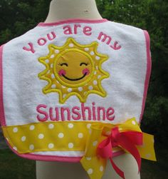 Hey, I found this really awesome Etsy listing at https://www.etsy.com/listing/237514498/you-are-my-sunshine-birthday-bib-1st