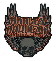 Harley-Davidson Gothic Winged Skull Embroidered Emblem, 3...