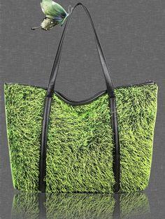 Warm plush lady bag - green #coniefox #2016prom