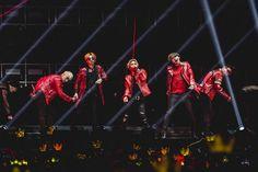 BigBang members (from left) Seungri, G-Dragon, Taeyang, Daesung and T.O.P at the BIGBANG 2015 WORLD TOUR - MADE In SINGAPORE concert at the Singapore Indoor Stadium.