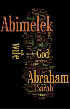 Genesis 20 (NIV) - The Bible in Wordle Form