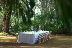 Natural Folding chairs in Ferns Garden at @Sunset Ranch Hawaii