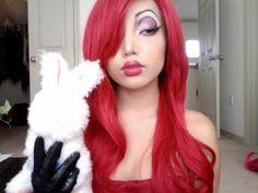 Perfect Jessica Rabbit makeup    cosplay idea