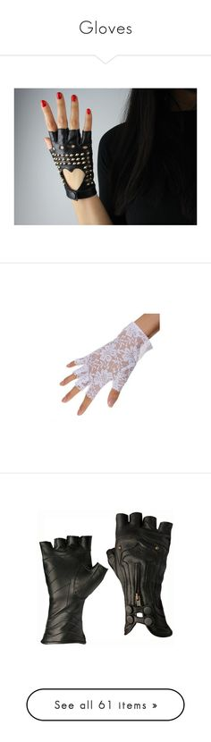 """""""Gloves"""" by rozy13 on Polyvore featuring accessories, gloves, black, nails, palm gloves, short gloves, fingerless driving gloves, driving gloves, cashmere-lined leather gloves and lace fingerless gloves"""