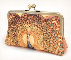 Peacock vintage clutch purse
