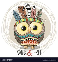 Find Cute Cartoon tribal Owl with feathers on a white background stock vectors and royalty free photos in HD. Explore millions of stock photos, images, illustrations, and vectors in the Shutterstock creative collection. Cute Drawings, Animal Drawings, Cartoon Mignon, Cute Owl Cartoon, Tribal Fox, Owl Feather, Feather Vector, Owl Vector, Owl Illustration