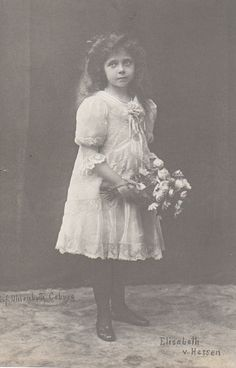 "Princess Elisabeth ""Ella"" (Elisabeth Marie Alice Viktoria) (11 Mar 1895-16 Nov 1903) Hesse by unknown photographer.1st child of Ernest Louis V ""Ernie"" (1868-1937) Hesse & Princess Victoria Melita ""Ducky"" (1876-1936) UK."