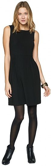 feminine dress with darts for women (plain-coloured, sleeveless, round neckline) - TOM TAILOR