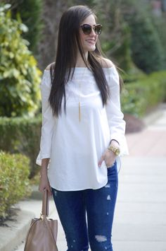 Off the Shoulder Trend featuring the RD Style Off the Shoulder top from Social Threads