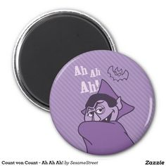 Count von Count - Ah Ah Ah! Regalos, Gifts. #imanes #magnets