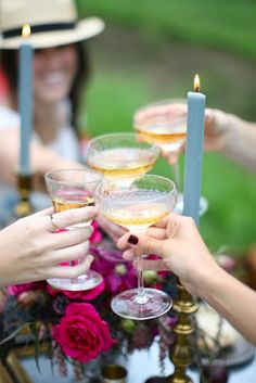 a toast with friends...