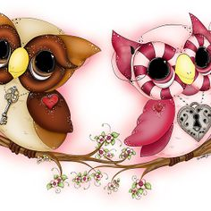 So In Love Hooties - Valentines Owl Art - iPhone, iPad, and Samsung Galaxy case available through my Redbubble store.