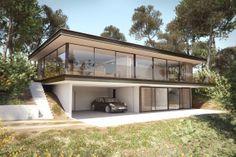 Réalisation d'une image de synthèse mettant en avant l'intégration d'une villa dans son environnement littoral. #Infographie #3dsmax #CGart #image3D #architecture