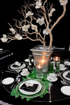 Orchid Branch centerpiece by It's A Swanky Affair
