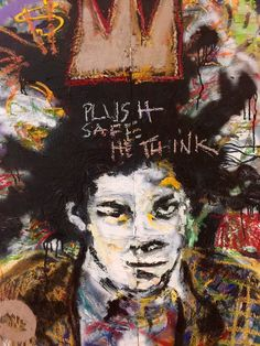 A personal favorite from my Etsy shop https://www.etsy.com/listing/229222537/jean-michel-basquiat-reclaimed-wood-art