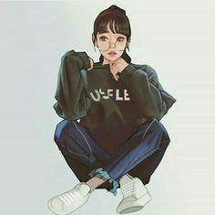 Anime Drawings Ready For Anything - Won Bin Lee is an artist from South Korea. Naruhina, Hinata Hyuga, Boruto, Girl Cartoon, Cartoon Art, Aesthetic Art, Aesthetic Anime, Dibujos Cute, Beautiful Anime Girl