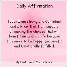 I am strong and confident. I AM making choices that will benefit me and my life. I deserve to be and I am happy, successful, and extremely fulfilled. Positive Affirmations Quotes, Self Love Affirmations, Morning Affirmations, Law Of Attraction Affirmations, Law Of Attraction Quotes, Affirmation Quotes, Positive Quotes, Positive Mindset, Positive Thoughts