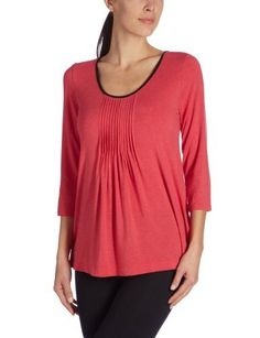 DKNY Seven Easy Pieces 3/4 Sleeve Top (4013104) S/Red Delicious DKNY. $54.00