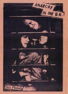 iznogoodgood:  Sex Pistols poster by Jamie Reid using a Ray Stevenson photograph, 1976