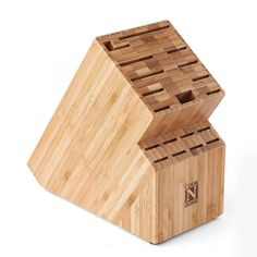 Found it at Wayfair - Cook N Home Bamboo 19 Slot Knife Storage Block